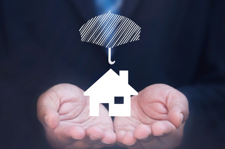 house mortgage: House insurance concept