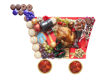 treacle: Christmas grocery shopping concept Stock Photo
