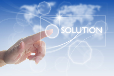 the solution: Business solution Stock Photo