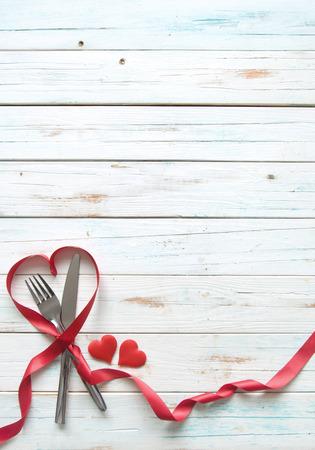 バレンタイン メニューの背景