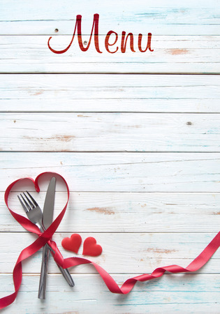 Valentines menu background