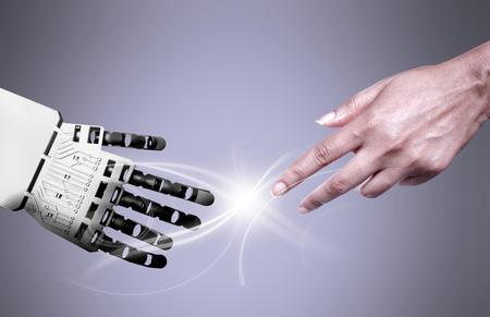 Robot en menselijke verbinding