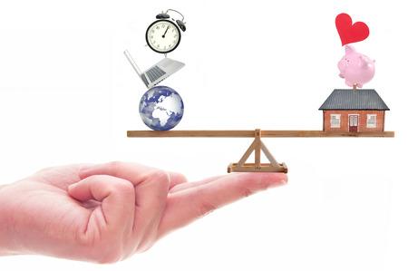 convivencia familiar: Trabajo concepto de equilibrio de la vida