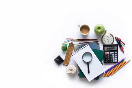papeleria: objetos aislados de educación papelería