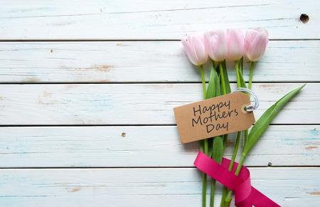 Moeders dag gift achtergrond Stockfoto