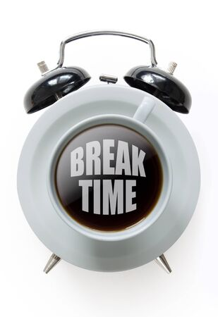 coffee hour: Time for a coffee break concept