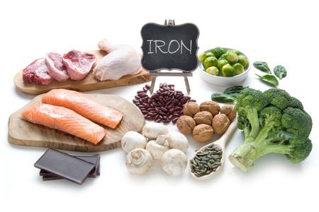 carne roja: Colección de alimentos ricos en hierro