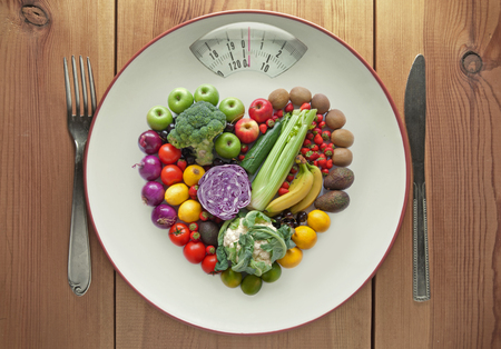 Diet concept weighing scales