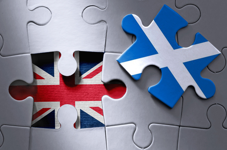 scottish flag: Scottish concetto di indipendenza Archivio Fotografico