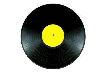 record: Isolated vinyl record