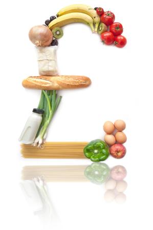 sterling: Simbolo della sterlina cibo alimentari britannico