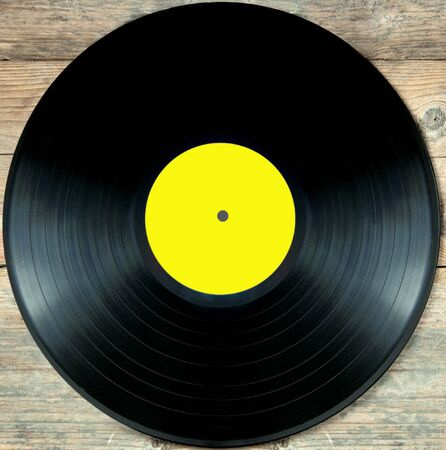 lp: Close up of a vinyl record lp over a white background