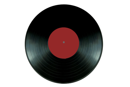 lp: Close up of a vinyl record lp on a wooden table