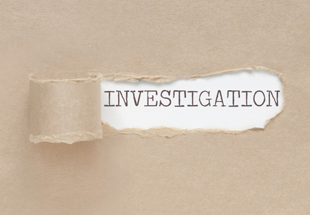 uncovering: Uncovering an investigation Stock Photo