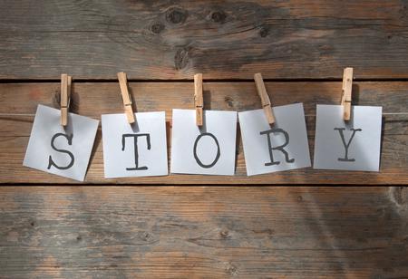 Konstruieren einer Story Schriftsteller Konzept