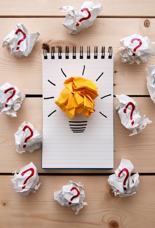 Bright ideas, brainstorming concept Stock Photo