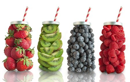 Fruit smoothie beverage concept Stock Photo
