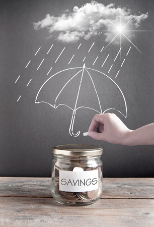 protection concept: Savings financial insurance protection concept