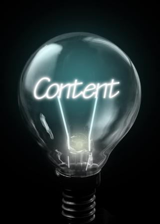 comunicación escrita: Contenido iluminado dentro de una bombilla