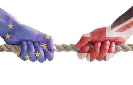 Brexit uitdaging concept Stockfoto