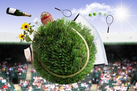 Tennis match concept