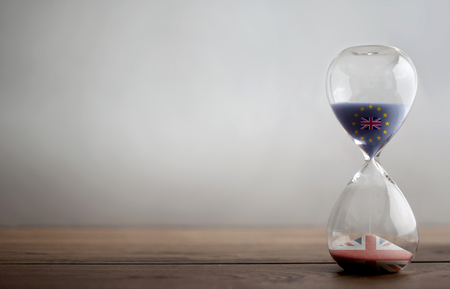 Brexit hourglass background
