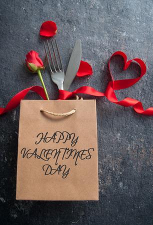 Valentines day meal Standard-Bild - 117502863