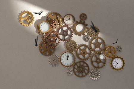 Clock parts including hands gears and cogs