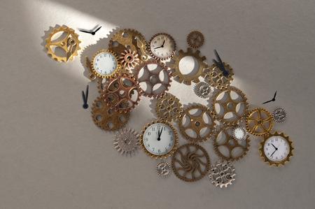 Pièces d'horloge, y compris les engrenages et les rouages