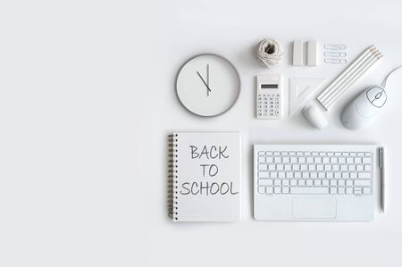 Back to school still life accessories
