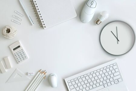 Desk top stationery with space in the centre