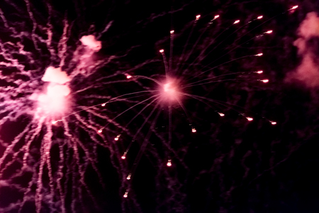 Fireworks at the fireworks festival or The Hague Scheveningen