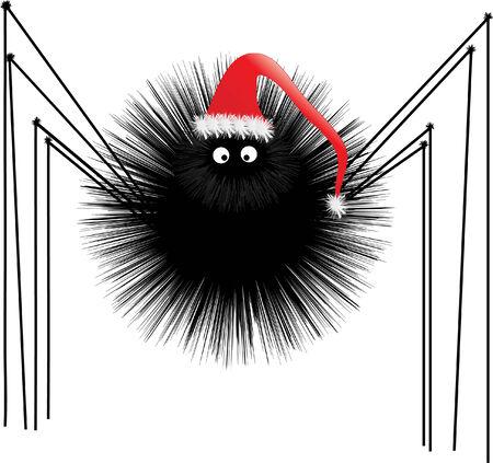 Santa Spider Vector