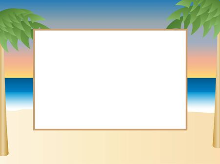 Tropical Picture Frame or Scrapbook page Imagens