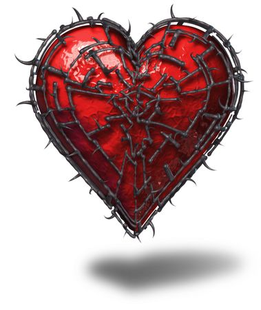 3D Render - Object - Caged Heart Stock Photo - 425844