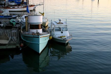 Boats docked in a local harbor