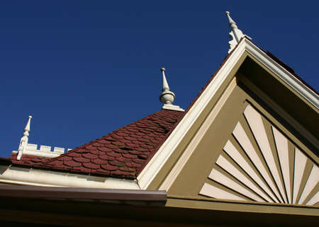 Detail of a Victorian style rooftop Stock fotó