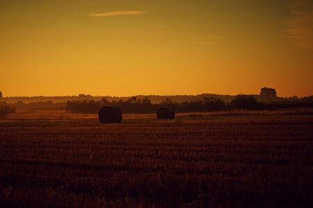 Beautiful landscape scenery at sunset.  photo