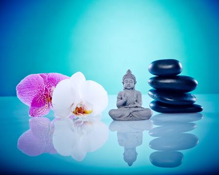 Wellness und Spa Bild, funktioniert perfekt für Werbe Gesundheit und Schönheit, Spiritualität oder Massage