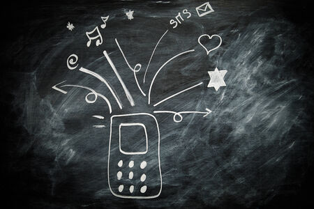 Image of a hand drawn cell phone with all features  photo