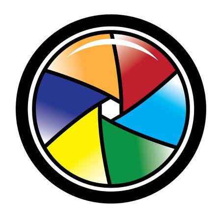 camera shutter: Camera colored Shutter Illustration