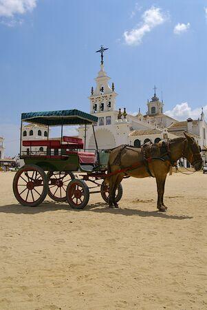 el: El Rocio, typical village in Andalusia, Stock Photo