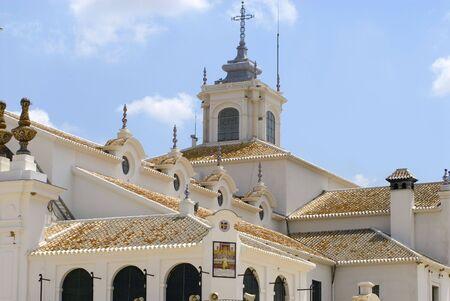 el: church in El Rocio, Andalusia, Spain