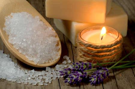 regimen: Natural spa setting with lavender and bath salt