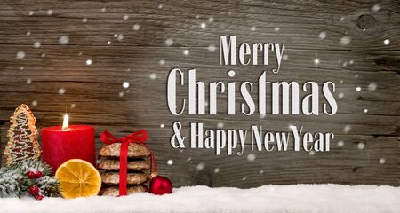 Background Merry Christmas & Happy New Year