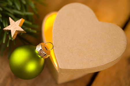 Cute heart-shaped gift for Christmas Stok Fotoğraf - 86954374