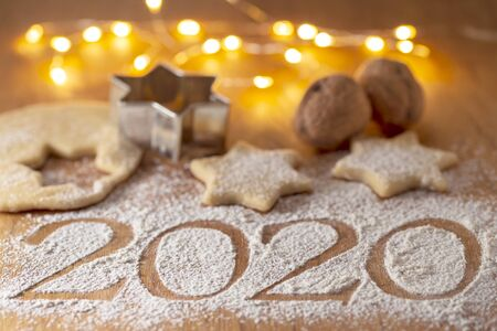 Christmas baking - delicious homemade biscuits - New Year's Eve 2020