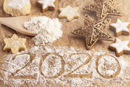 Christmas bakery and turn of the year 2020 Stok Fotoğraf - 133960746