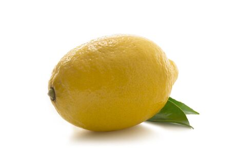 Lemon isolated - close-up