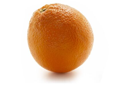 Single orange isolated